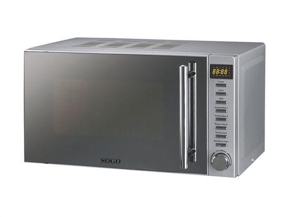 SOGO Φουρνάκι Μικροκυμάτων 700W με Λειτουργία Γκριλ Grill 900W χωρητικότητας 20L