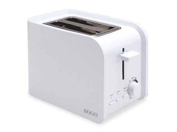 SOGO Αυτόματη Φρυγανιέρα 750W 2 θέσεων με 7 επίπεδα θέρμανσης, TOS-SS-5355