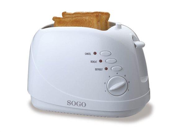 SOGO Φρυγανιέρα 700W 2 θέσεων με 7 επίπεδα θέρμανσης, TOS-SS-5305