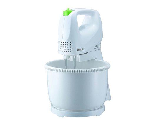 Muhler Ηλεκτρικό Μίξερ Χειρός 200W με Κάδο 2.5Lt σε Λευκό-Πράσινο χρώμα, MX-212B