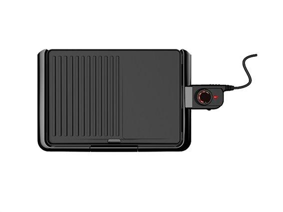 Muhler Ηλεκτρική Πλάκα Ψησίματος Γκριλ Grill Plate 2000W, σε Μαύρο χρώμα, MG-2536