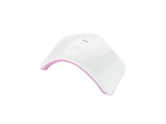 Muhler Φουρνάκι Νυχιών Λάμπα UV με 8 LED, MSL-1808 Ροζ