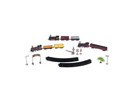 Eddy Toys Σετ Τρένο μπαταρίας 11 τεμ. με Ράγες, Βαγόνια και εξαρτήματα, 99155