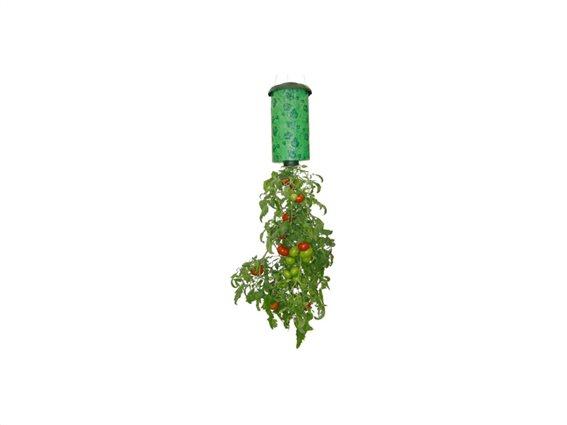 Πλαστική Κρεμαστή Ανάποδη Γλάστρα για φύτεμα Ντομάτας και άλλων αναρριχητικών φυτών σε Πράσινο χρώμα