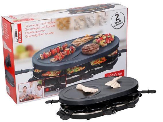 Cuisinier Deluxe Επιτραπέζια Ηλεκτρική Αντικολλητική Πλάκα Ψησίματος BBQ Γκριλ 32x12x47.5cm 1200W