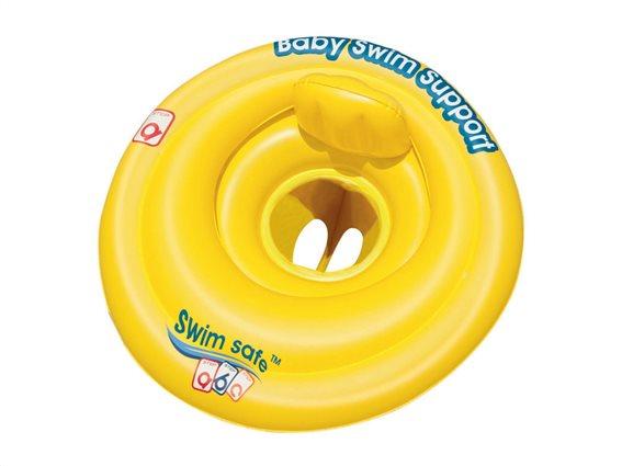 Bestway Παιδικό φουσκωτό σωσίβιο 69x69cm σε Κίτρινο χρώμα, SwimSafe ABC 32096EU