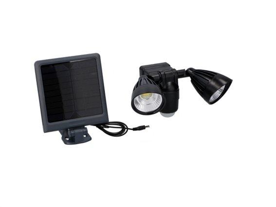 Grundig Solar Ηλιακός Προβολέας με Αισθητήρα Κίνησης και LED Φωτισμό 2x3W σε Μαύρο Χρώμα, 24x17x22cm