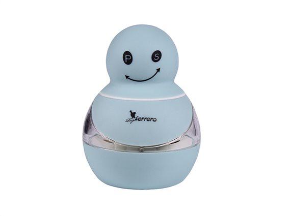 Πλαστικός Μύλος Πιπεριού Αλατιού Αλατοπίπερο σε Γαλάζιο Χρώμα Luigi Ferrero FR-201M