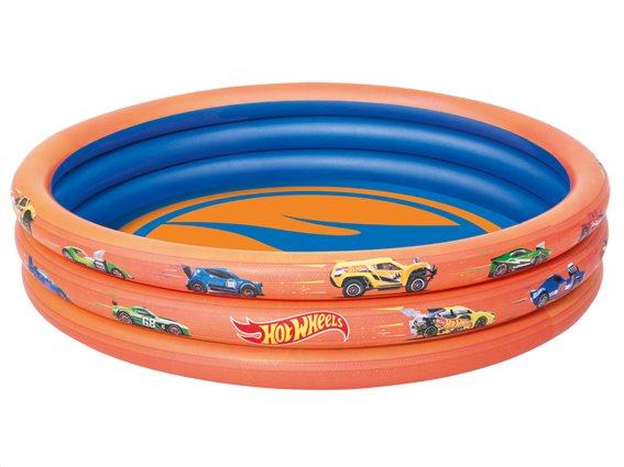 Hot Wheels Φουσκωτή Παιδική Πισίνα για Εξωτερικό χώρο χωρητικότητας 140L, 122x25cm, Bestway 93403