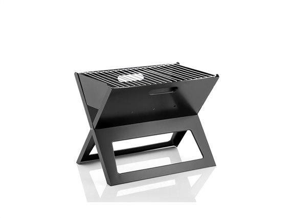 InnovaGoods Φορητή Επιτραπέζια Γκριλιέρα Ψησταριά Μπάρμπεκιου BBQ Γκριλ Grill σε Μαύρο Χρώμα, 45x35x30cm