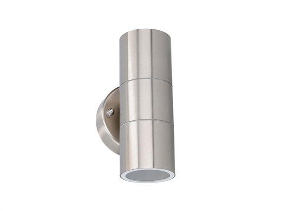 Φωτιστικό Τοίχου LED Εξωτερικού χώρου 2x35W από ανοξείδωτο Ατσάλι, IP44 9.3x8.5x16cm, Grundig 07531