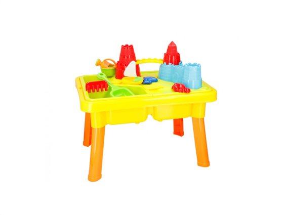 Παιδικό Τραπέζι 2 σε 1 για Άμμο και Νερό 21 τεμαχίων, 59x42x37cm, Eddy Toys 04812