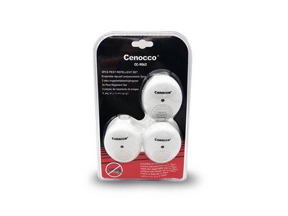 Ηλεκτρικό Απωθητικό εντόμων-κουνουπιών 3 τεμαχίων με Υπερήχους κατάλληλο, Cenocco CC-9062