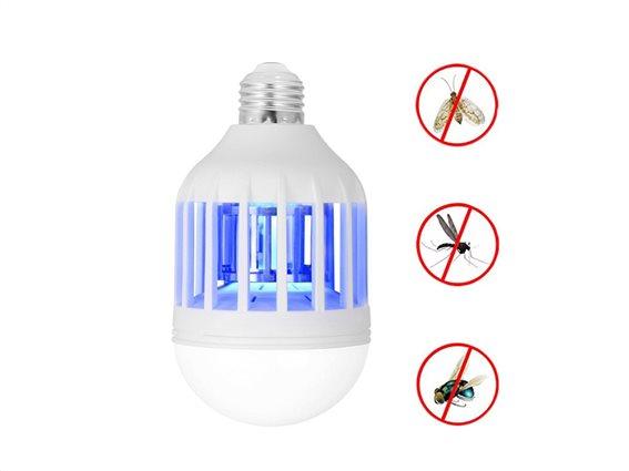Λάμπα LED για Προστασία από Έντομα 2 σε 1, Εντομοαπωθητική Λάμπα 9W, Cenocco, CC-9061