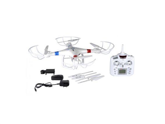 Eddy Toys WiFi Τηλεκατευθυνόμενο Drone Ελικόπτερο Tετρακόπτερο με HD κάμερα 2.4GHz 4 καναλιών, 99453