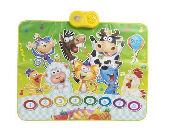 Παιδικό Χαλάκι Παιχνιδιού με 8 ήχους ζώων, 90x70cm, Eddy Toys 07520