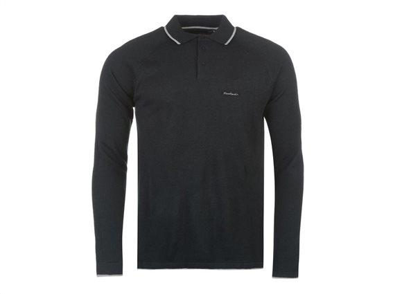 Pierre Cardin Ανδρική Πλεκτή Μπλούζα Polo με Μακρύ Μανίκι, Γιακά σε Navy χρώμα XXLarge