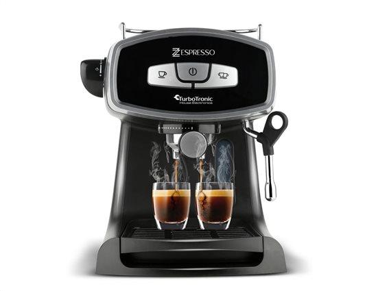 Turbotronic Καφετιέρα Espresso Cappuccino Αποσπώμενο Δοχείο TT-CM19 1.2Lt 19bar Μαύρο