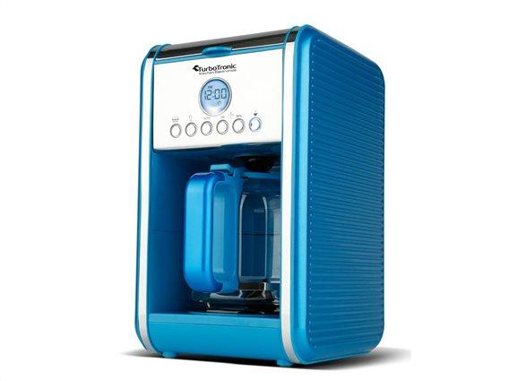 TurboTronic Καφετιέρα Φίλτρου Espresso Προγραμματιζόμενη 900W χωρητικότητας 1.8L , TT-CM12 Μπλε