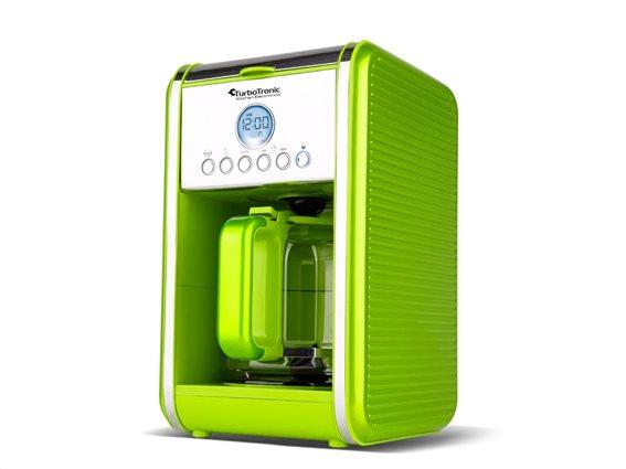 TurboTronic Καφετιέρα Φίλτρου Espresso Προγραμματιζόμενη 900W χωρητικότητας 1.8L, TT-CM12 Πράσινο