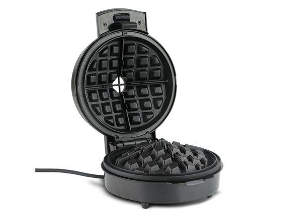 Turbotronic Waffle Maker Συσκευή Παρασκευής Βάφλας Βαφλιέρα 700W σε Μαύρο χρώμα, TT-WM1