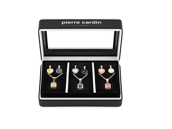 Pierre Cardin Gift Set Pxx0209 Σετ Συλλογή Κοσμημάτων Από Κράμα Χρυσού, Ρόδιο, Με 3 Κολιέ