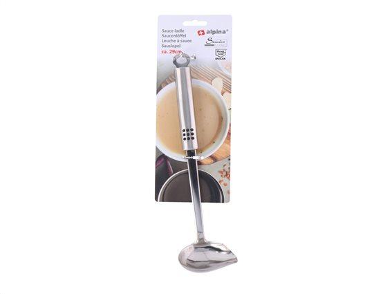 Κουτάλα σερβιρίσματος INOX ιδανικό για σάλτσες από ανοξείδωτο ατσάλι, 29 εκατοστά, Alpina