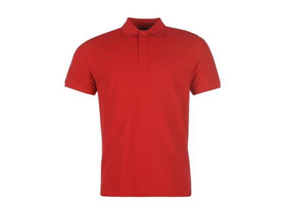 Pierre Cardin Ανδρικό μπλουζάκι polo T-Shirt με κοντό μανίκι και κουμπιά σε Κόκκινο χρώμα XLarge