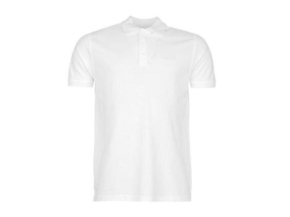 Pierre Cardin Ανδρικό μπλουζάκι polo T-Shirt με κοντό μανίκι και κουμπιά σε Λευκό χρώμα Medium
