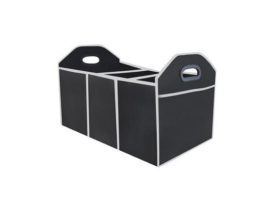 Πτυσσσόμενη Θήκη Οργάνωσης Πορτ Παγκάζ με 3 θήκες και 2 εξωτερικές θήκες, σε μαύρο χρώμα  33x32x2cm