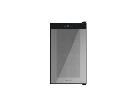 Cecotec Συντηρητής Ψυγείο Κρασιών 25L Χαμηλού Θορύβου για 8 φιάλες, 25Lt με LED Φωτισμό 65W