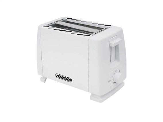 Mesko Φρυγανιέρα max700W 2 θέσεων με Ρυθμιζόμενη Θερμοκρασία σε Λευκό χρώμα