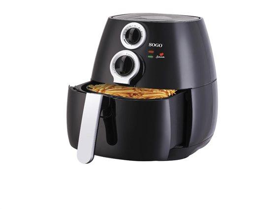 SOGO Φριτέζα αέρος 3.2L 1400W για μαγείρεμα χωρίς η με ελάχιστο λάδι, FRE-SS-10455