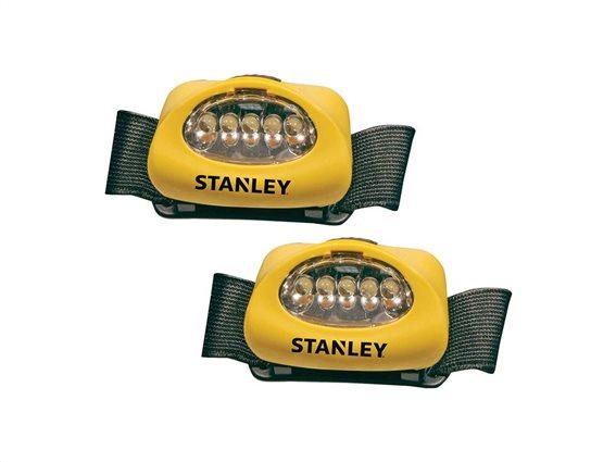 Stanley Σετ Φακός Κεφαλής 2 τεμαχίων με 5 Led και 3 διαφορετικές λειτουργίες, HL2PKS