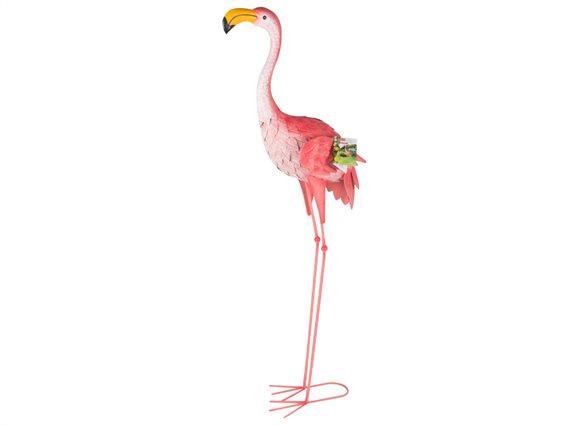 Φλαμίνγκο Flamingo Διακοσμητικό Κήπου Εξωτερικού χώρου 104cm ύψους από μέταλλο