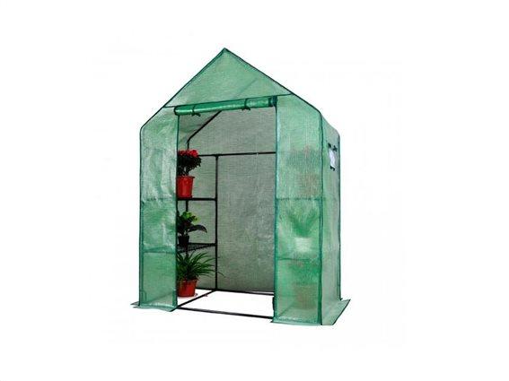 Διάφανο Θερμοκήπιο Walk-in με Παράθυρα για την αυλή σας, 143x73x195cm, Herzberg HG-8002