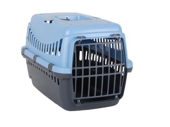 Σπιτάκι Κλουβί μεταφοράς για Κατοικίδια σε Γκρι - Μπλε χρώμα, 46x31x32cm, Carrier