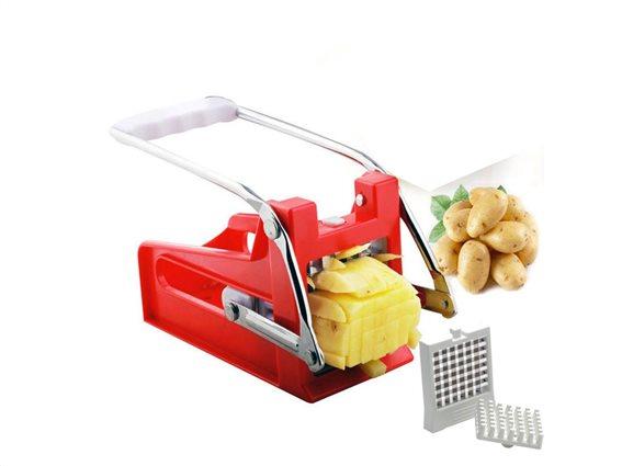 Πατατοκόφτης Κόφτης για Πατάτες και Λαχανικά, Potato Cutter Κόκκινο