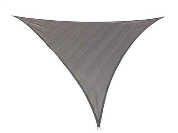 Αντηλιακή Τριγωνική Τέντα Σκίαστρο  διαστάσεων 3.6x3.6x3.6μέτρα, σε Χρώμα Γκρι