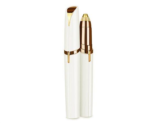 Υποαλλεργική Αποτριχωτική Μηχανή Φρυδιών και Μύτης, σε χρώμα λευκό-χρυσό, Cenocco Beauty, CC-9064