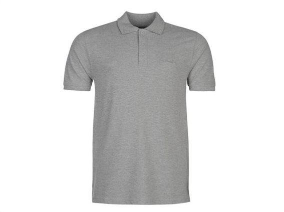Pierre Cardin Ανδρικό μπλουζάκι polo T-Shirt με κοντό μανίκι και κουμπιά σε Γκρι Ανοιχτό χρώμα Small