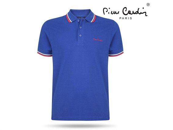Pierre Cardin Ανδρικό Μπλουζάκι Polo T-shirt με κοντό μανίκι και κουμπιά σε Μπλε Χρώμα Small