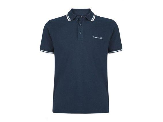 Pierre Cardin Ανδρικό Μπλουζάκι Polo T-shirt με κοντό μανίκι και κουμπιά, σε χρώμα μπλε XXLarge