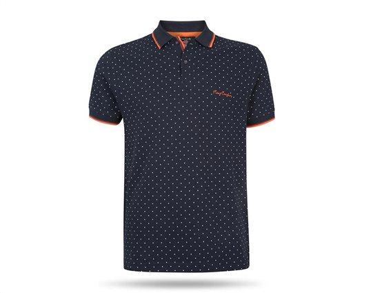 Pierre Cardin Ανδρικό Μπλουζάκι Polo T-shirt με κοντό μανίκι κουμπιά πουά σχέδιο Small