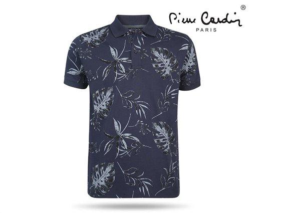 Pierre Cardin Ανδρικό Μπλουζάκι Polo T-shirt με κοντό μανίκι κουμπιά σε μπλε χρώμα Small