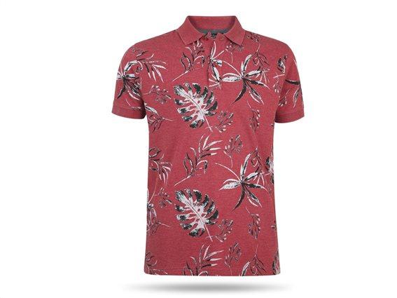 Pierre Cardin Ανδρικό Μπλουζάκι Polo T-shirt με κοντό μανίκι κουμπιά σε κόκκινο χρώμα Small