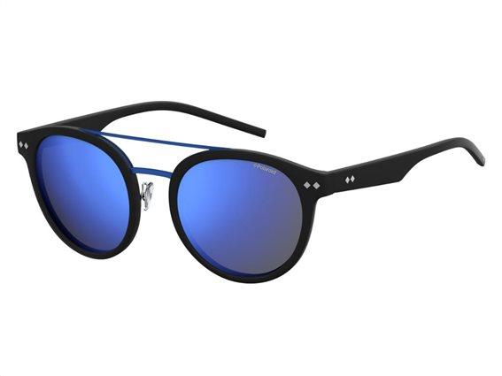 Polaroid Γυναικεία Γυαλιά Ηλίου με Οβάλ Φακό Καθρέπτη και προστασία UV 400, σε χρώμα Μαύρο