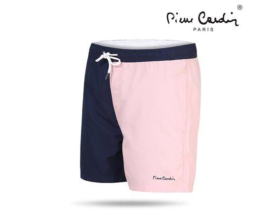 Pierre Cardin Ανδρικό Μαγιό Βερμούδα με λάστιχο δίχτυ και τσέπη σε χρώμα μπλε-ροζ Small