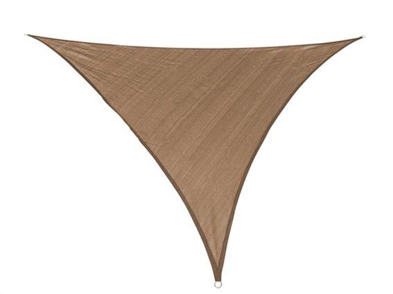 Αντηλιακή Τριγωνική Τέντα Σκίαστρο, στο χρώμα της άμμου, διαστάσεις 3x3x3 μέτρα