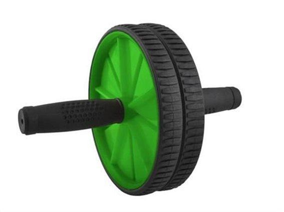 Ρόδα Κοιλιακών, AB Wheel, με χαλάκι, Πράσινο